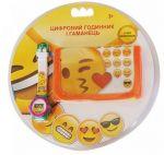 Набор TBL Цифровые часы и кошелек 'Emojis' (EMJ30658)