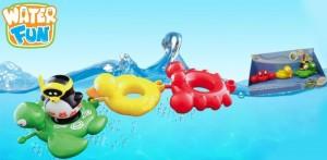 фото Набор игрушек для ванны Water Fun 'Веселые друзья - пингвин, черепаха, утка, краб' (23144) #2