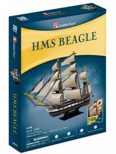 Трехмерная головоломка-конструктор CubicFun 'HMS Beagle' (T4027h)