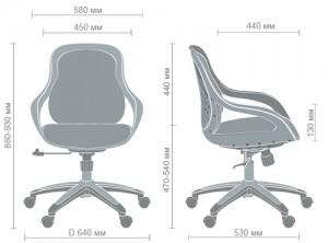 фото Кресло Art Metal Furniture Колибри белый/сетка серая (X-10) (259167) #2