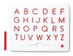 Магнитная доска Kid O для изучения больших английских печатных букв от А до Z, красная (10342)