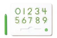 Магнитная доска Kid O для изучения цифр от 0 до 9, зеленая (10347)