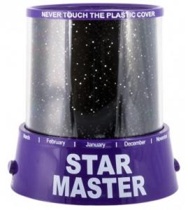 Подарок Проектор звездного неба Star Master фиолетовый