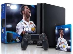 фото Sony PlayStation 4 Slim 1Tb Black (игра 'FIFA 2018' подарок официальная гарантия) #2