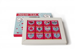 фото Шоколадный набор Shokopack из 12 плиток 'Люблю тебя больше, чем...' #2