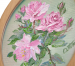 фото Картина 'Розы' 178x218 мм, масло, холст (овал) #2