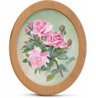 Подарок Картина 'Розы' 178x218 мм, масло, холст (овал)