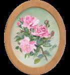 фото Картина 'Розы' 178x218 мм, масло, холст (овал) #4