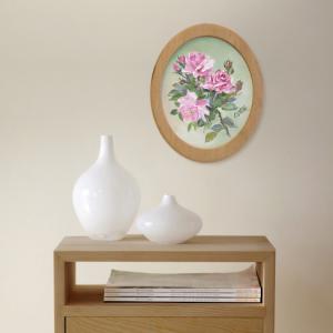 фото Картина 'Розы' 178x218 мм, масло, холст (овал) #3