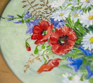 фото Картина 'Полевые цветы' 178x218 мм, масло, холст (овал) #2