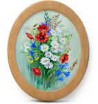 Подарок Картина 'Полевые цветы' 178x218 мм, масло, холст (овал)