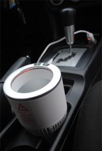 фото 'Умный' автомобильный подстаканник, белый с серебрянной окантовкой #2