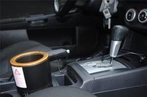 фото 'Умный' автомобильный подстаканник, черный с золотой окантовкой #3