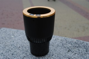 Подарок 'Умный' автомобильный подстаканник, черный с золотой окантовкой