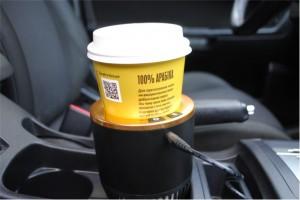 фото 'Умный' автомобильный подстаканник, черный с золотой окантовкой #4