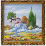 Подарок Картина 'Сиена' 230x230 мм, масло, холст