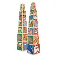 Набор деревянных блоков-кубов 'Животные' (MD14207)