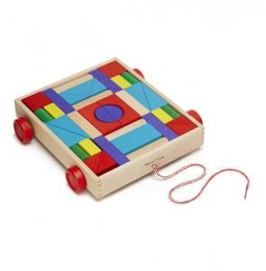 фото Набор деревянных блоков на тележке (MD14209) #2
