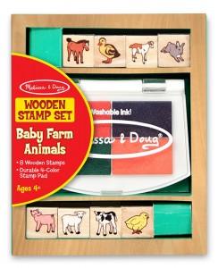 Штампы Melissa & Doug 'Детеныши зверей фермы' (MD1639)