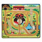 Игровой коврик с паровозиками Melissa & Doug 'Железная дорога' (MD19554)