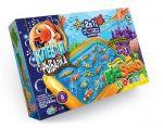 Кинетический песок Danko toys KidSand и настольная игра 'Клевая рыбалка' (7659DT)