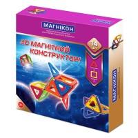3D магнитный конструктор Магникон 14 деталей (MK-14)