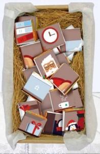фото Шоколадный крафтовый набор XL 'Лист від Діда Мороза' #2