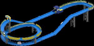 Трек с пусковым механизмом Silverlit 'Robocar Poli' (мини-машинка Поли в комплекте) (83385)