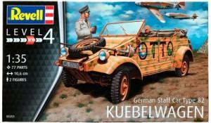 Модель для сборки Revell 'Немецкий штабной автомобиль Type 82 Kubelwagen, 1:35' (03253)