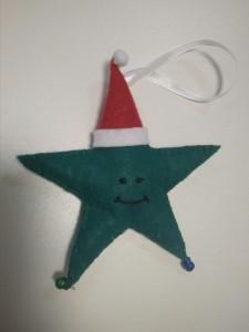 фото Елочная игрушка ручной работы 'Звезда' (с колокольчиками) #5