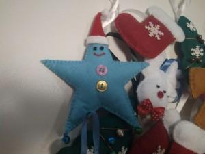фото Елочная игрушка ручной работы 'Звезда' (с колокольчиками) #10