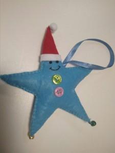 фото Елочная игрушка ручной работы 'Звезда' (с колокольчиками) #9