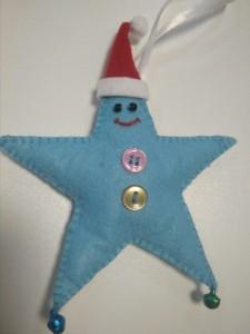 фото Елочная игрушка ручной работы 'Звезда' (с колокольчиками) #3