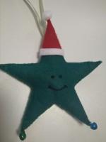 Подарок Елочная игрушка ручной работы 'Звезда' (с колокольчиками)