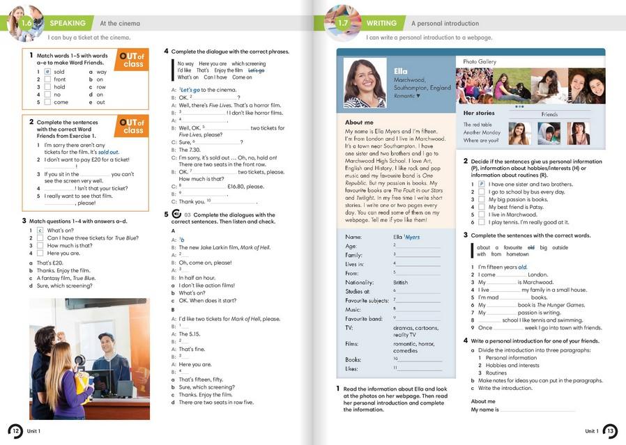 Family and friends 4 workbook ответы
