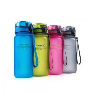 фото Бутылка для воды спортивная Uzspace матовая/голубая 3037 650ml Blue #6