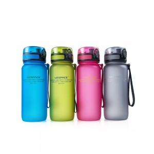 фото Бутылка для воды спортивная Uzspace матовая/голубая 3037 650ml Blue #7