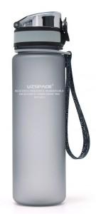 Бутылка для воды спортивная Uzspace матовая/серая 3026 500ml Grey