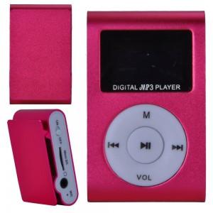 MP3 плеер c дисплеем и наушниками (розовый)