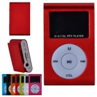MP3 плеер c дисплеем и наушниками (красный)