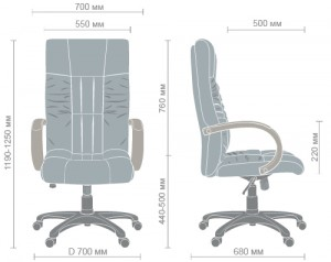 фото Кресло Art Metal Furniture 'Консул НВ' 622-B High-Back Brown PU+PVC, HL018 Mech, кожзам коричневый (031134) #2