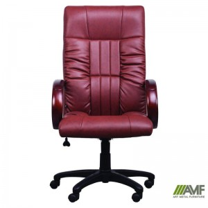 фото Кресло Art Metal Furniture 'Консул НВ' 622-B High-Back Brown PU+PVC, HL018 Mech, кожзам коричневый (031134) #4