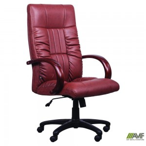 Кресло Art Metal Furniture 'Консул НВ' 622-B High-Back Brown PU+PVC, HL018 Mech, кожзам коричневый (031134)