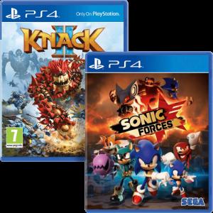 игра 'Sonic Forces'+ 'Knack 2' (суперкомплект из 2 игр для PS4)
