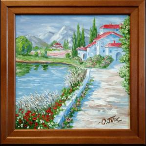 Подарок Картина 'Жаркий день' 245x245 мм, масло, холст