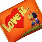 Подушка 'Love is...' Оранжевая