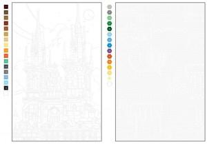 фото страниц Цветовой квест. Города. 30 непростых картин по номерам #3
