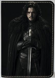 Подарок Обложка на паспорт 'Игра престолов. Джон Сноу' (Эко-Кожа)