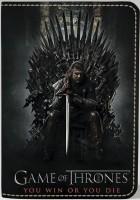 Подарок Обложка на паспорт 'Игра Престолов. Железный трон' (Эко-Кожа)
