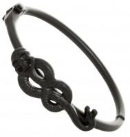 Подарок Браслет Bioworld 'Harry Potter - death eater hinged cuff (matte black)' (BV45WFHPT)